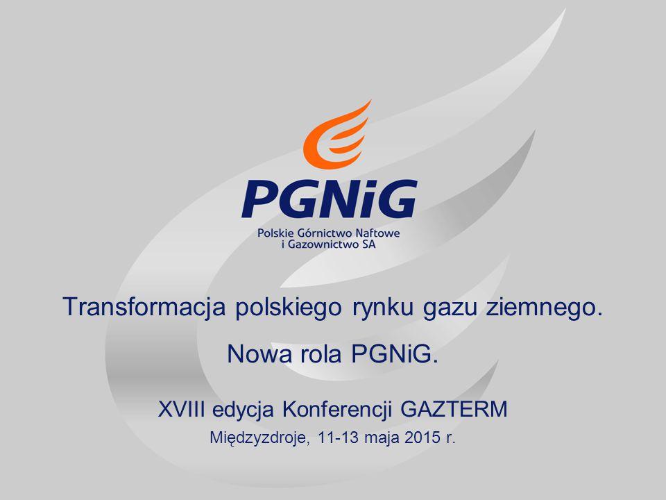 Transformacja polskiego rynku gazu ziemnego. Nowa rola PGNiG.