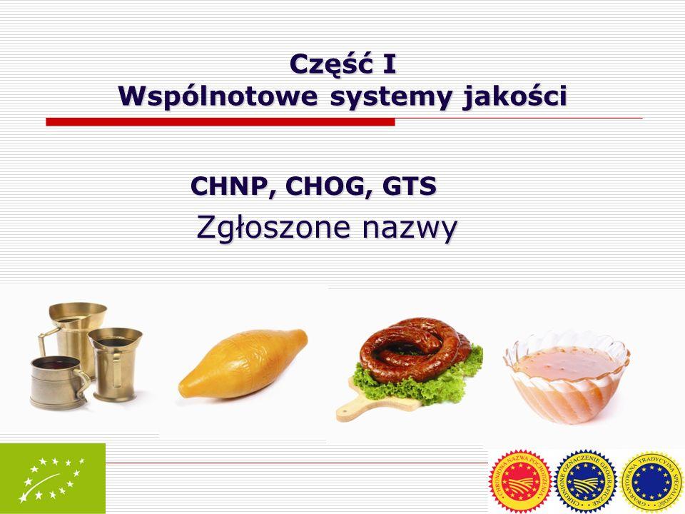 Część I Wspólnotowe systemy jakości