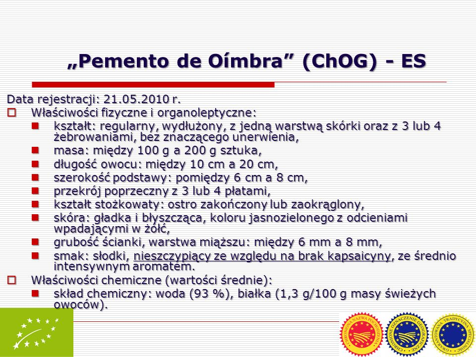 """Pemento de Oímbra (ChOG) - ES"