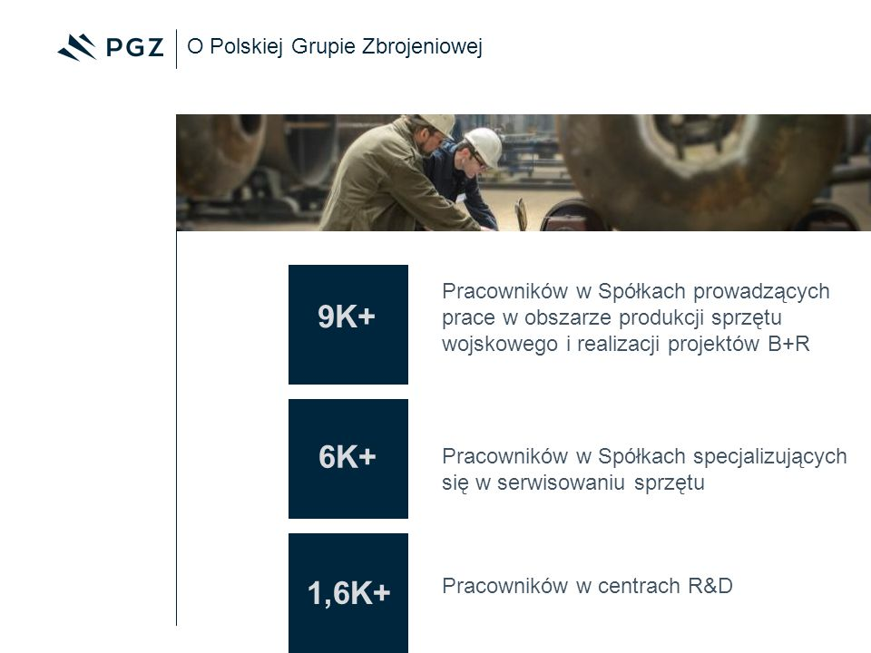 9K+ 6K+ 1,6K+ O Polskiej Grupie Zbrojeniowej