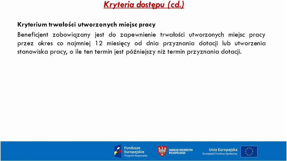 Kryteria dostępu (cd.)