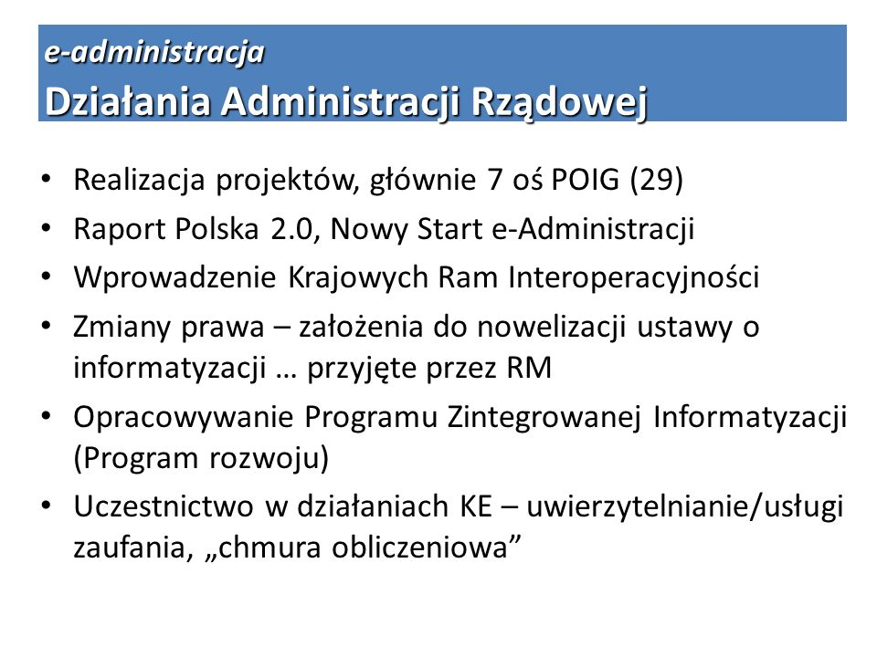 Działania Administracji Rządowej