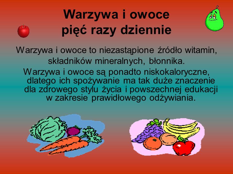 Warzywa i owoce pięć razy dziennie