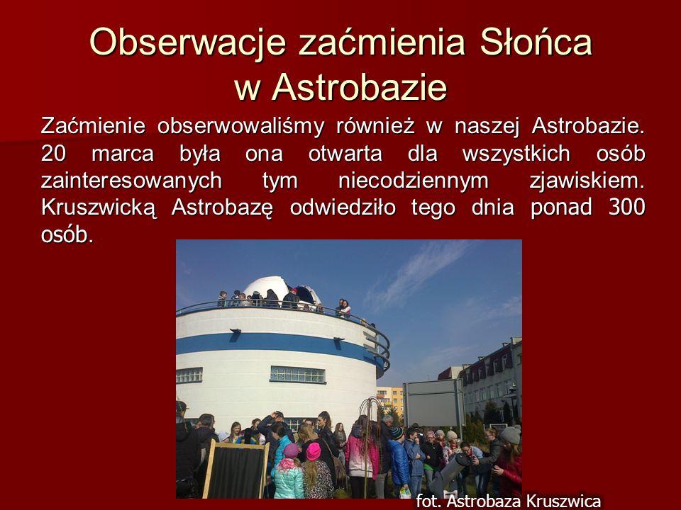 Obserwacje zaćmienia Słońca w Astrobazie