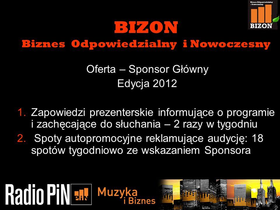 BIZON Biznes Odpowiedzialny i Nowoczesny Oferta – Sponsor Główny