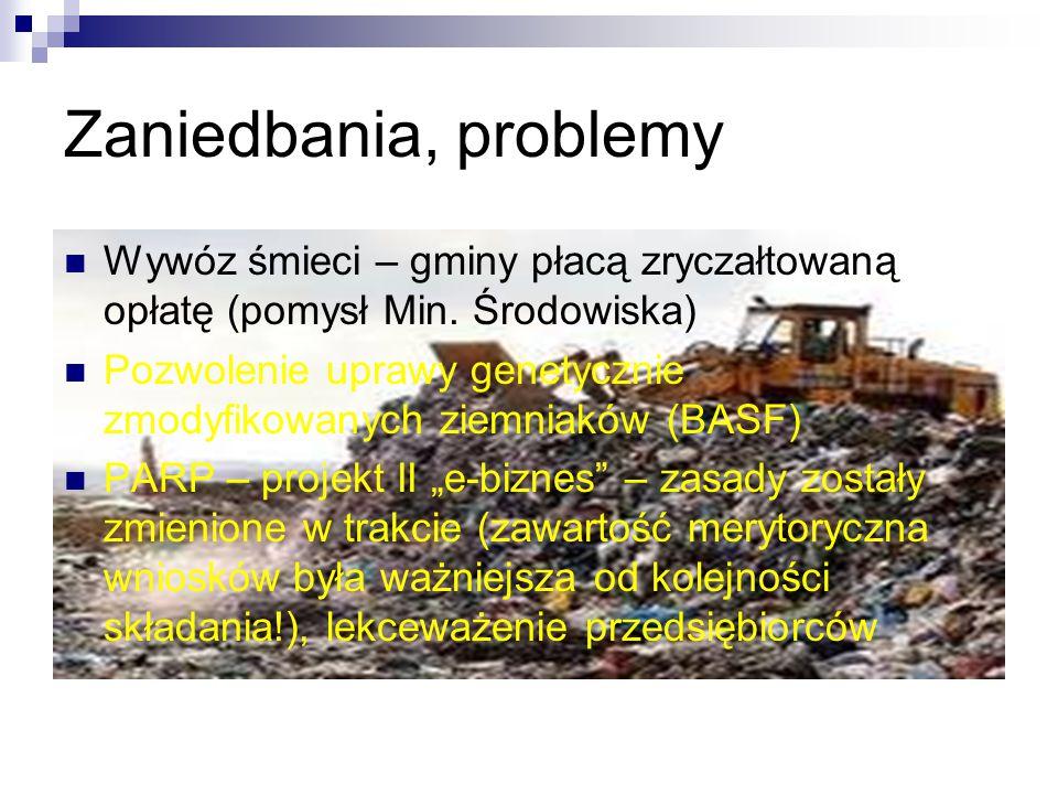 Zaniedbania, problemy Wywóz śmieci – gminy płacą zryczałtowaną opłatę (pomysł Min. Środowiska)