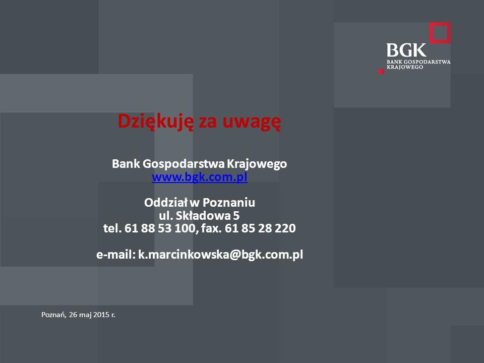 Dziękuję za uwagę Bank Gospodarstwa Krajowego www. bgk. com