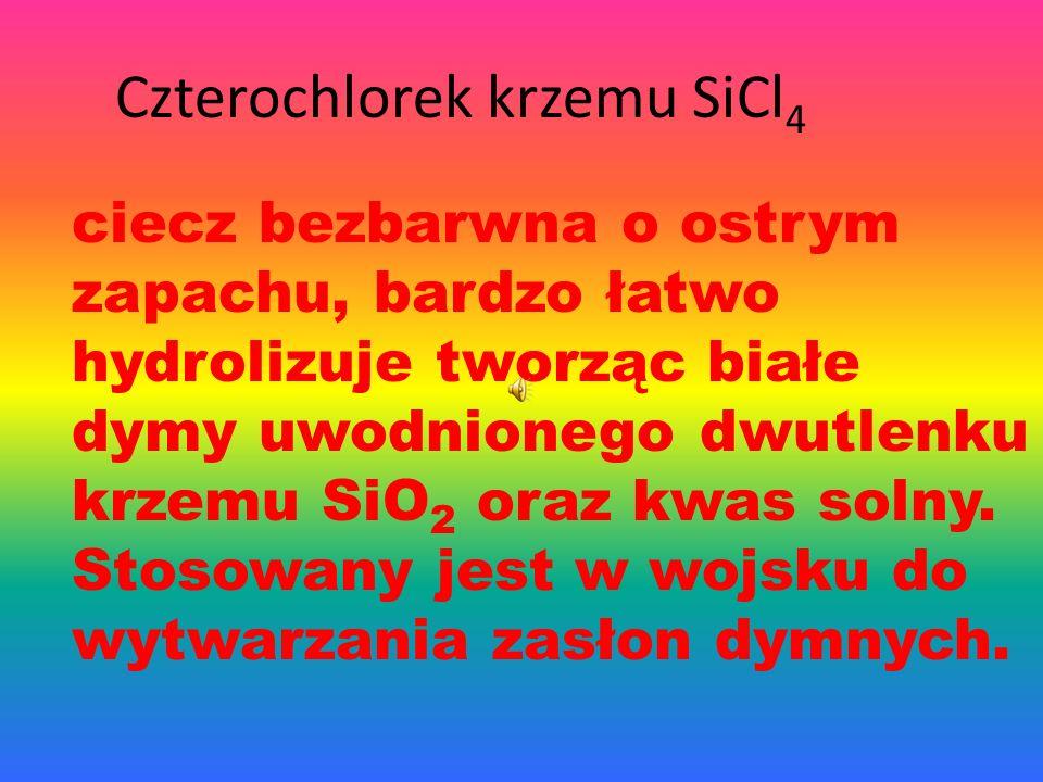 Czterochlorek krzemu SiCl4