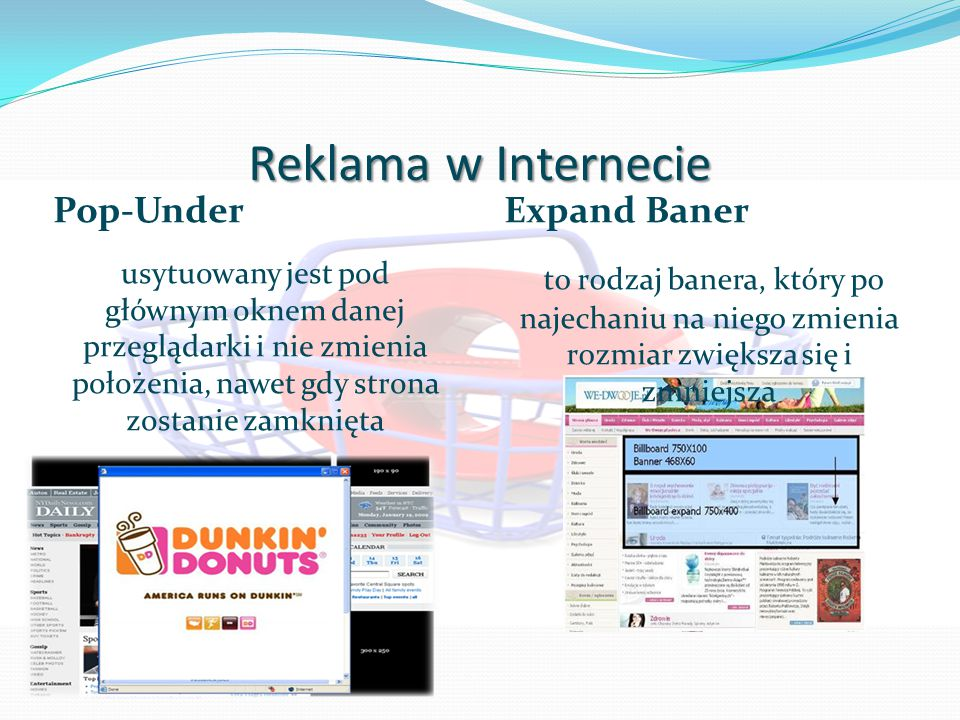 Reklama w Internecie Pop-Under Expand Baner