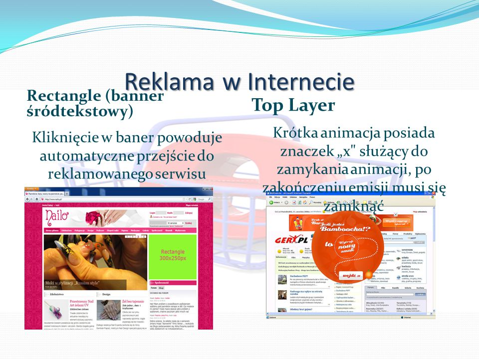 Reklama w Internecie Top Layer Rectangle (banner śródtekstowy)