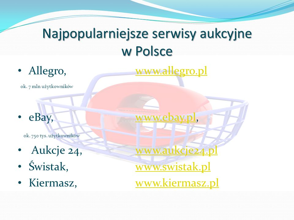 Najpopularniejsze serwisy aukcyjne w Polsce