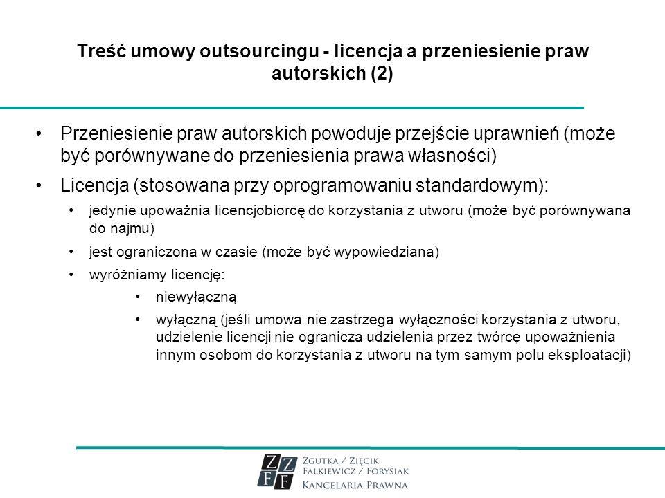 Licencja (stosowana przy oprogramowaniu standardowym):