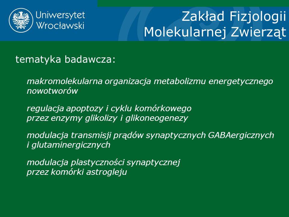 Zakład Fizjologii Molekularnej Zwierząt