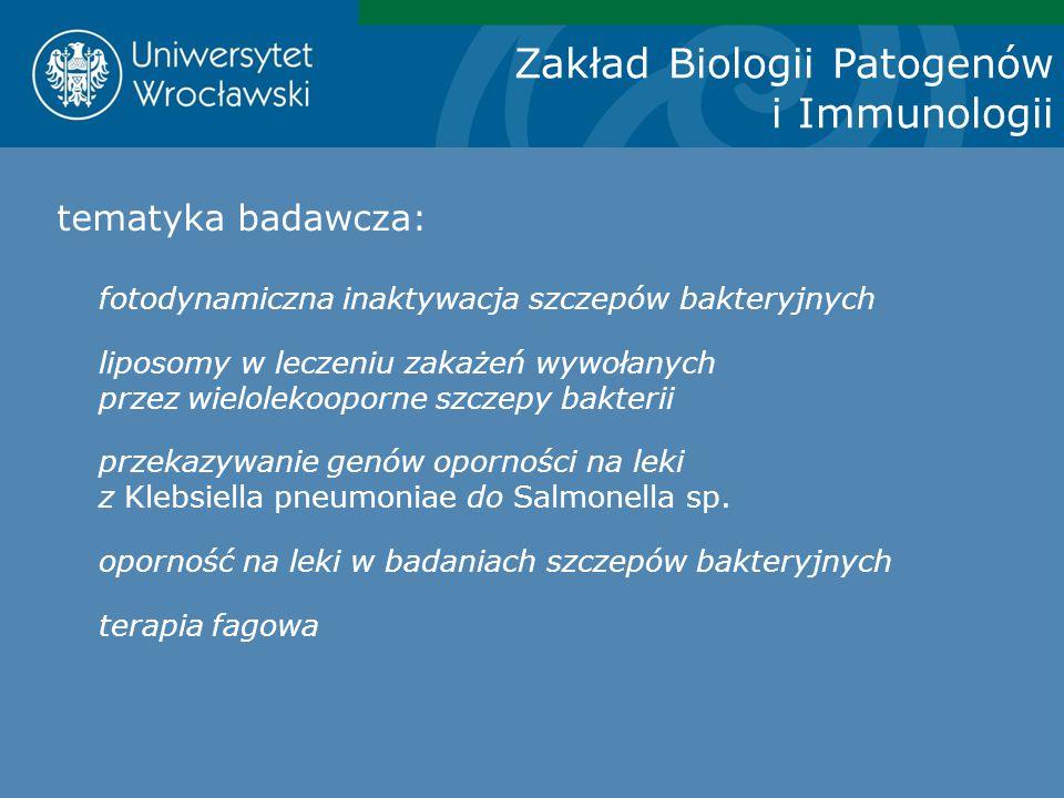 Zakład Biologii Patogenów i Immunologii