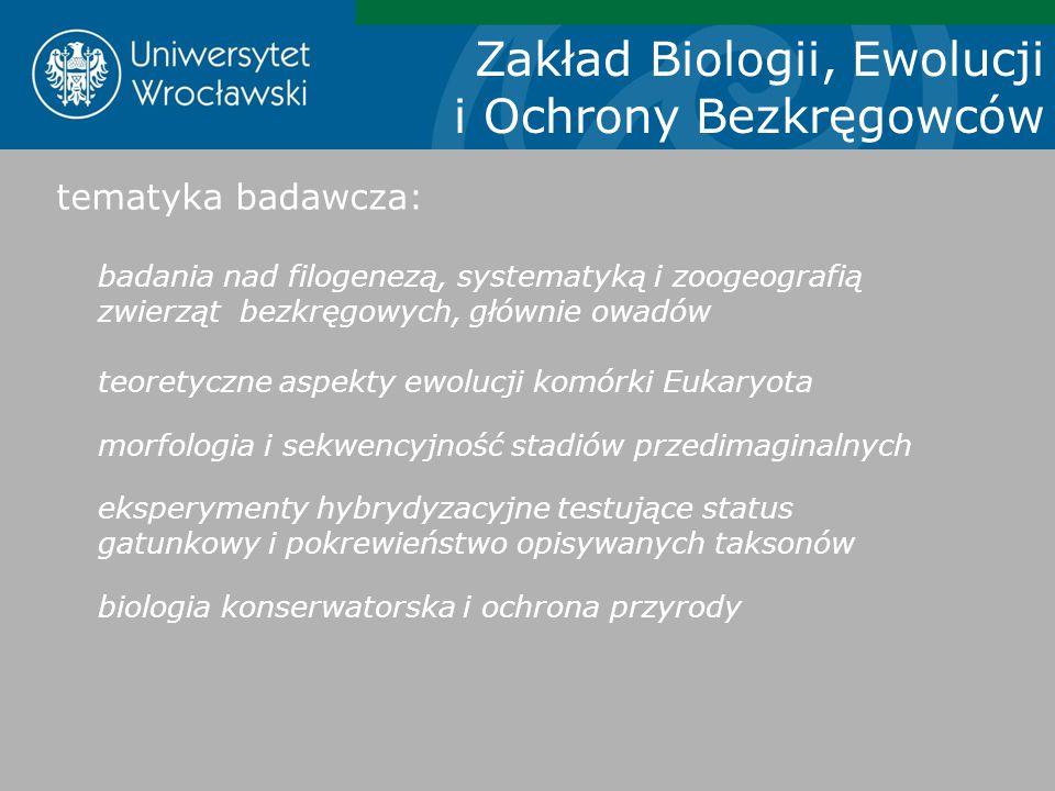 Zakład Biologii, Ewolucji i Ochrony Bezkręgowców