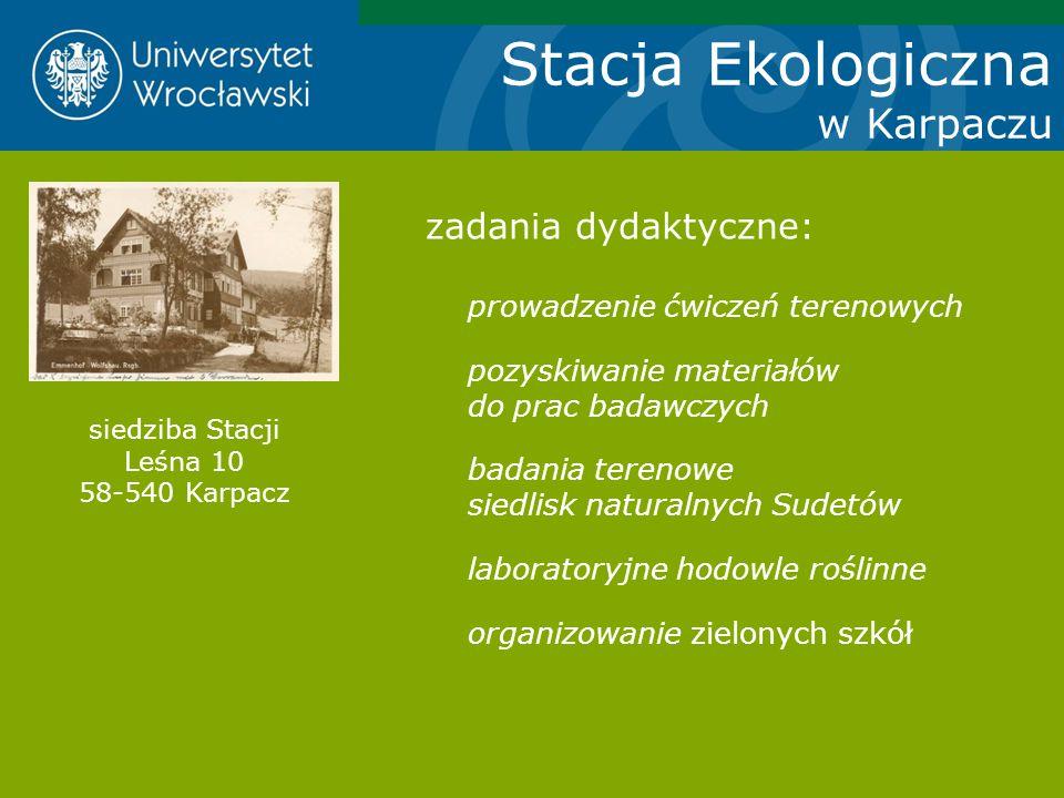 siedziba Stacji Leśna 10 58-540 Karpacz