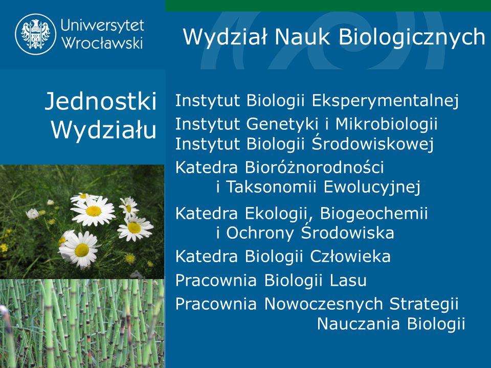 Jednostki Wydziału Wydział Nauk Biologicznych