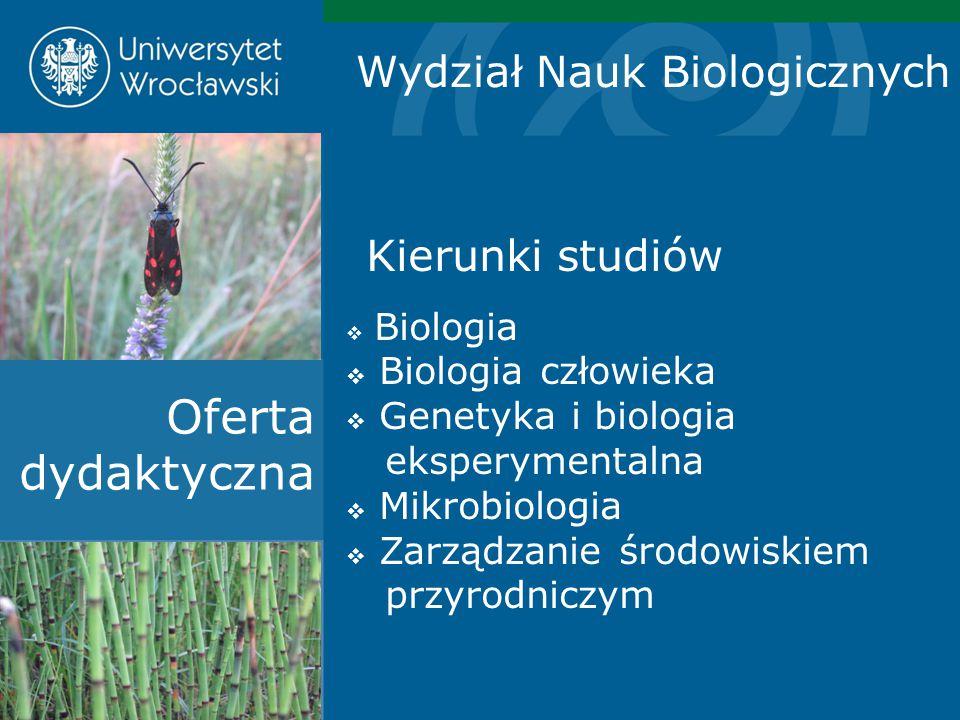 Oferta dydaktyczna Wydział Nauk Biologicznych Biologia człowieka