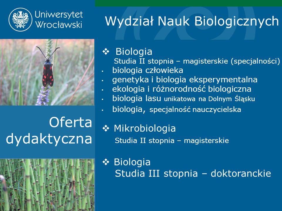 Oferta dydaktyczna Wydział Nauk Biologicznych Biologia Mikrobiologia