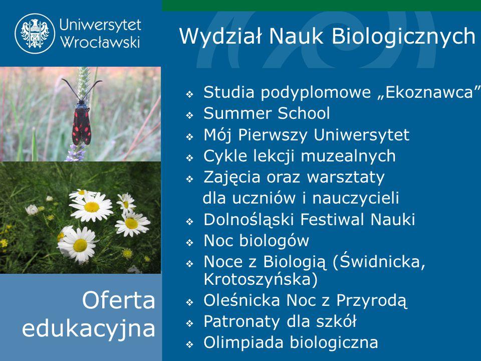 Oferta edukacyjna Wydział Nauk Biologicznych