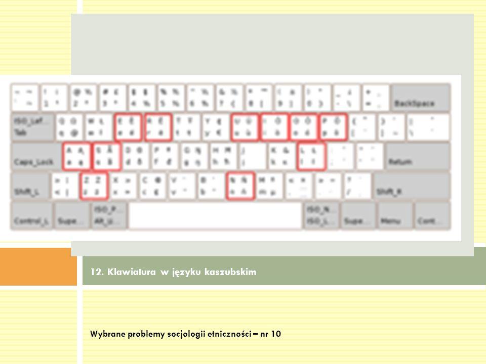 12. Klawiatura w języku kaszubskim