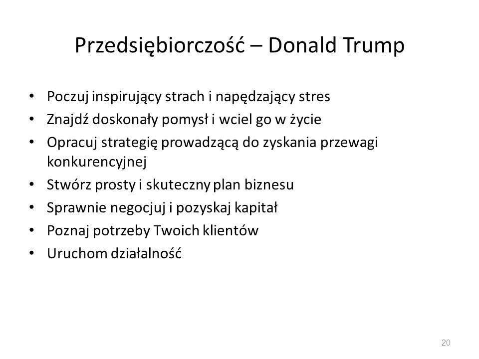 Przedsiębiorczość – Donald Trump