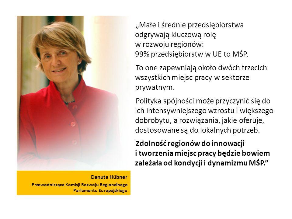 """""""Małe i średnie przedsiębiorstwa odgrywają kluczową rolę w rozwoju regionów: 99% przedsiębiorstw w UE to MŚP."""