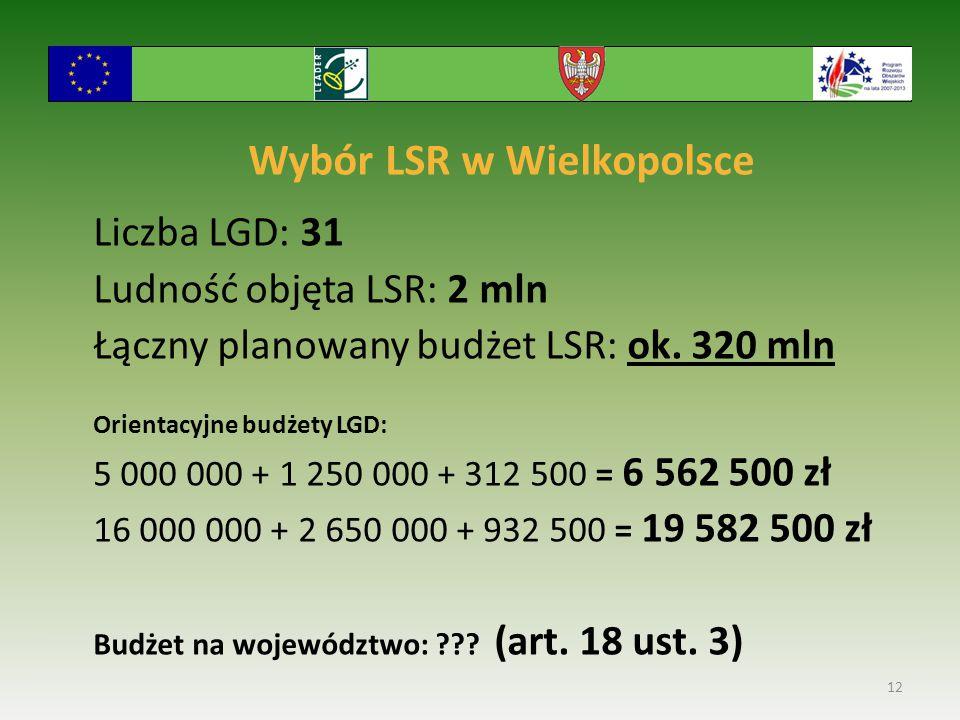 Wybór LSR w Wielkopolsce