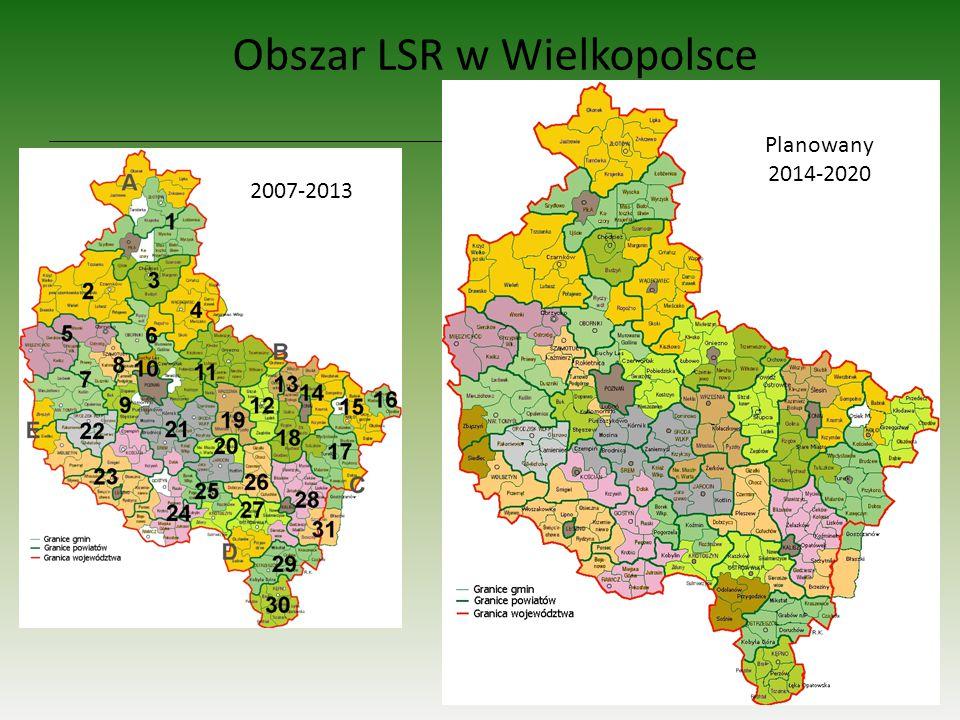 Obszar LSR w Wielkopolsce