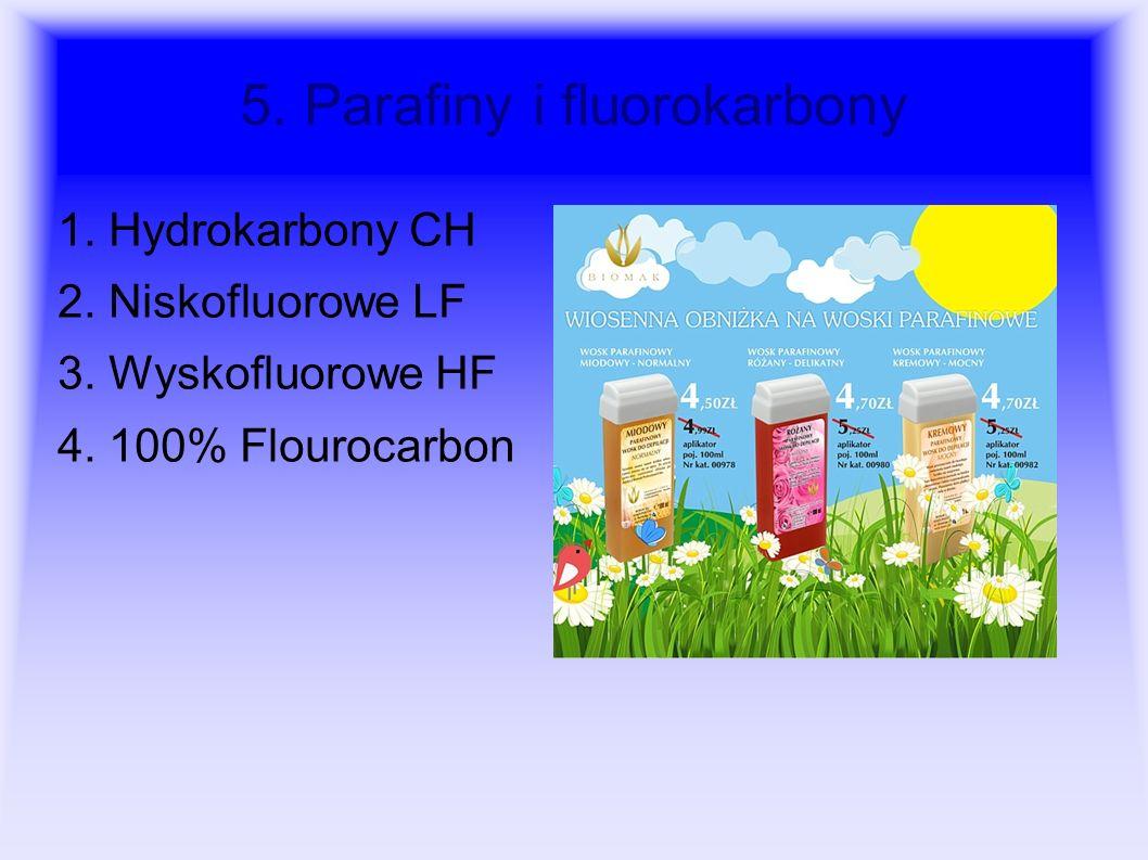 5. Parafiny i fluorokarbony