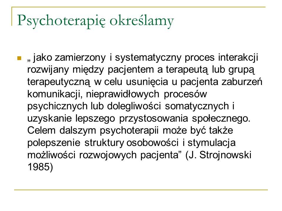 Psychoterapię określamy