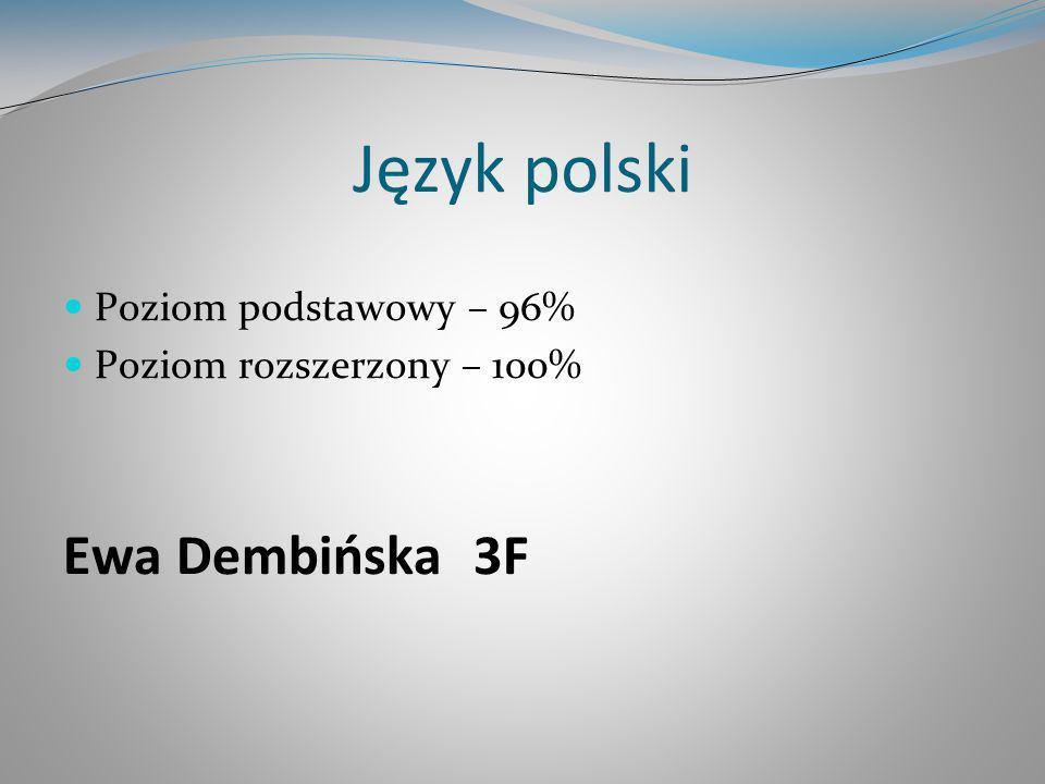 Język polski Ewa Dembińska 3F Poziom podstawowy – 96%