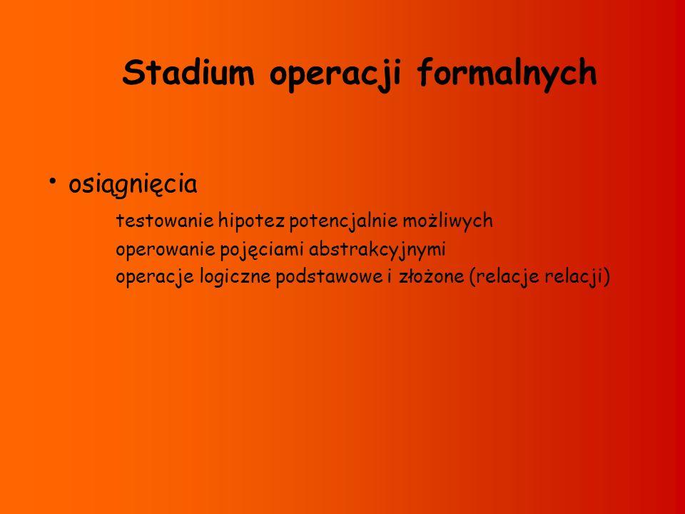 Stadium operacji formalnych