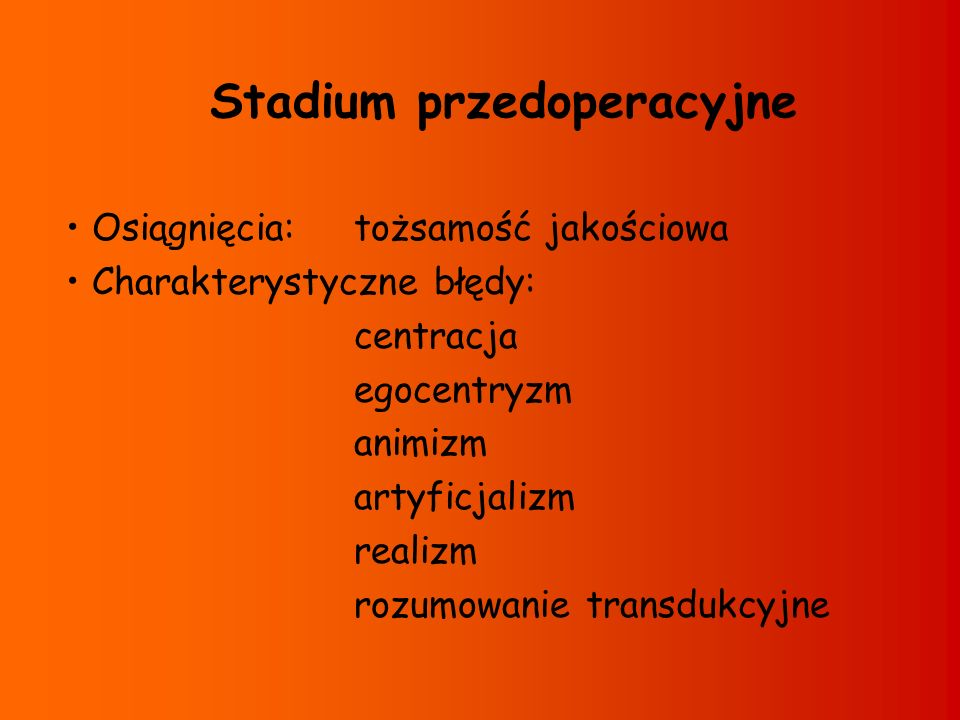Stadium przedoperacyjne