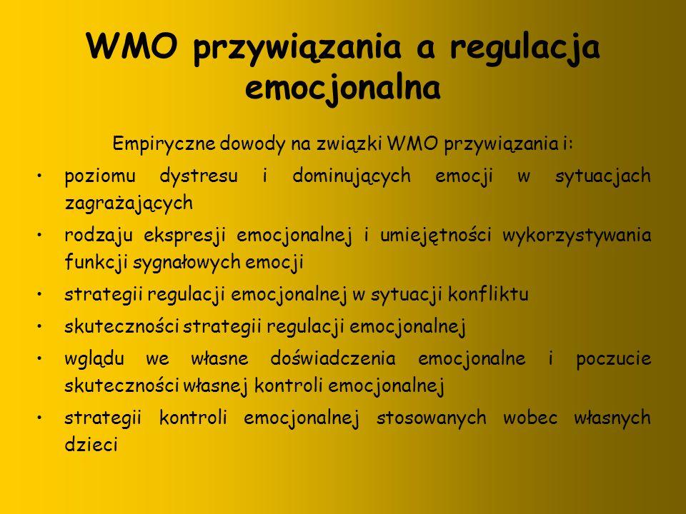 WMO przywiązania a regulacja emocjonalna