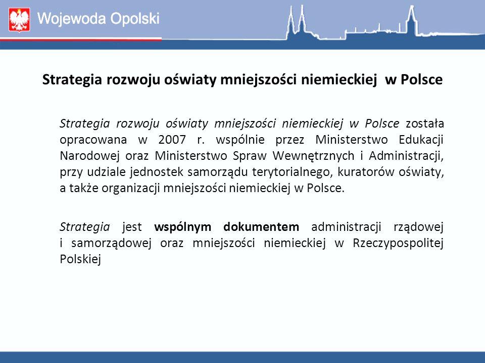Strategia rozwoju oświaty mniejszości niemieckiej w Polsce