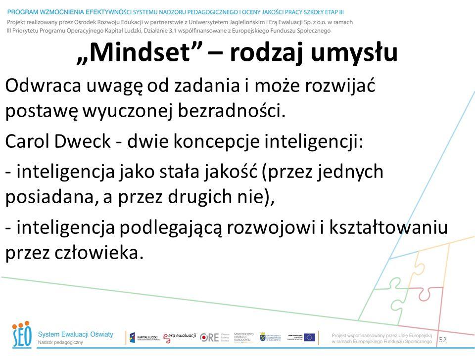 """""""Mindset – rodzaj umysłu"""