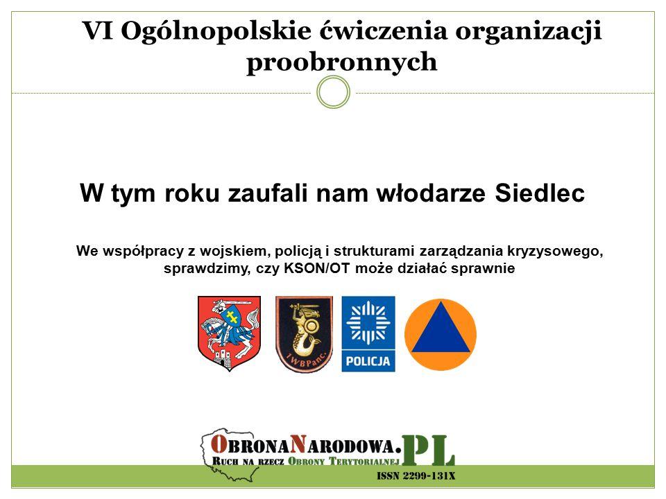 VI Ogólnopolskie ćwiczenia organizacji proobronnych