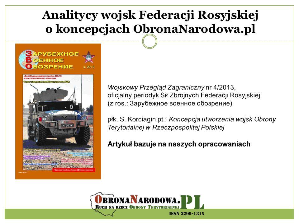 Analitycy wojsk Federacji Rosyjskiej o koncepcjach ObronaNarodowa.pl