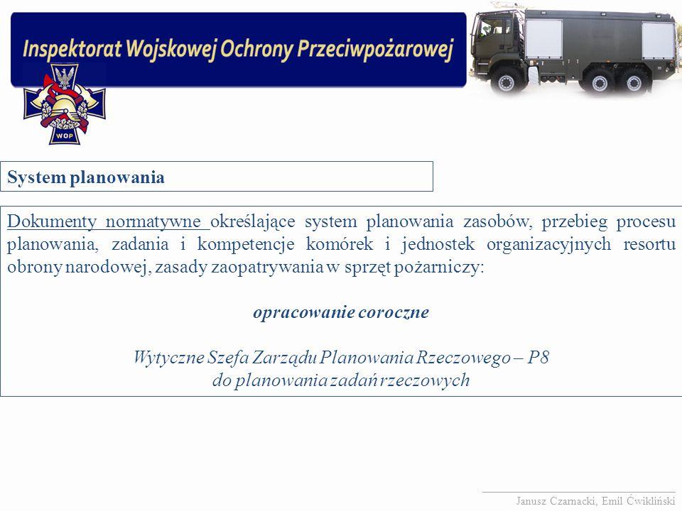 Wytyczne Szefa Zarządu Planowania Rzeczowego – P8