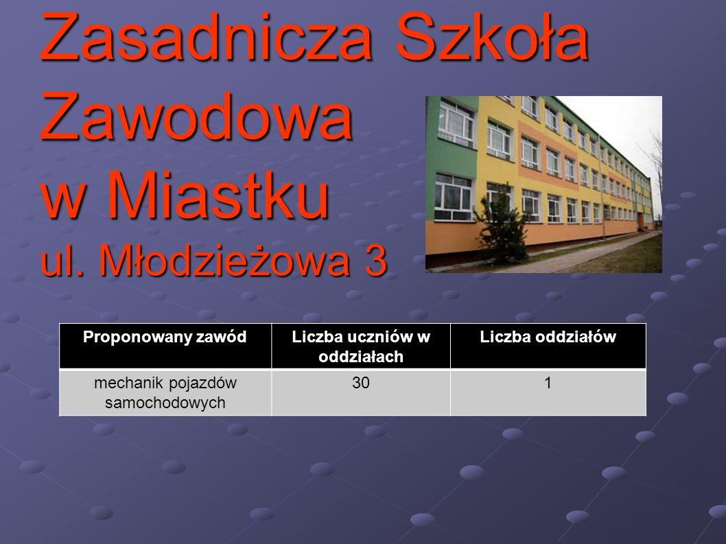 Zasadnicza Szkoła Zawodowa w Miastku ul. Młodzieżowa 3