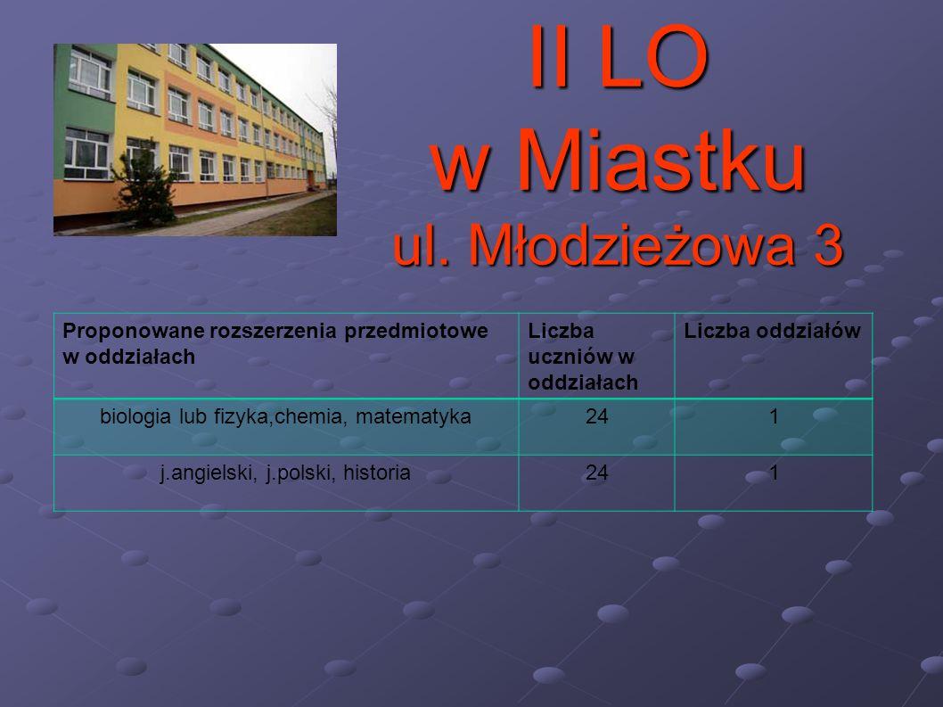 II LO w Miastku ul. Młodzieżowa 3
