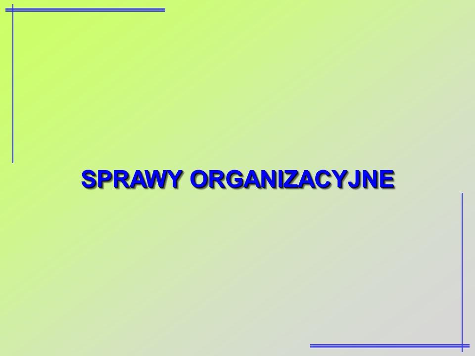 SPRAWY ORGANIZACYJNE