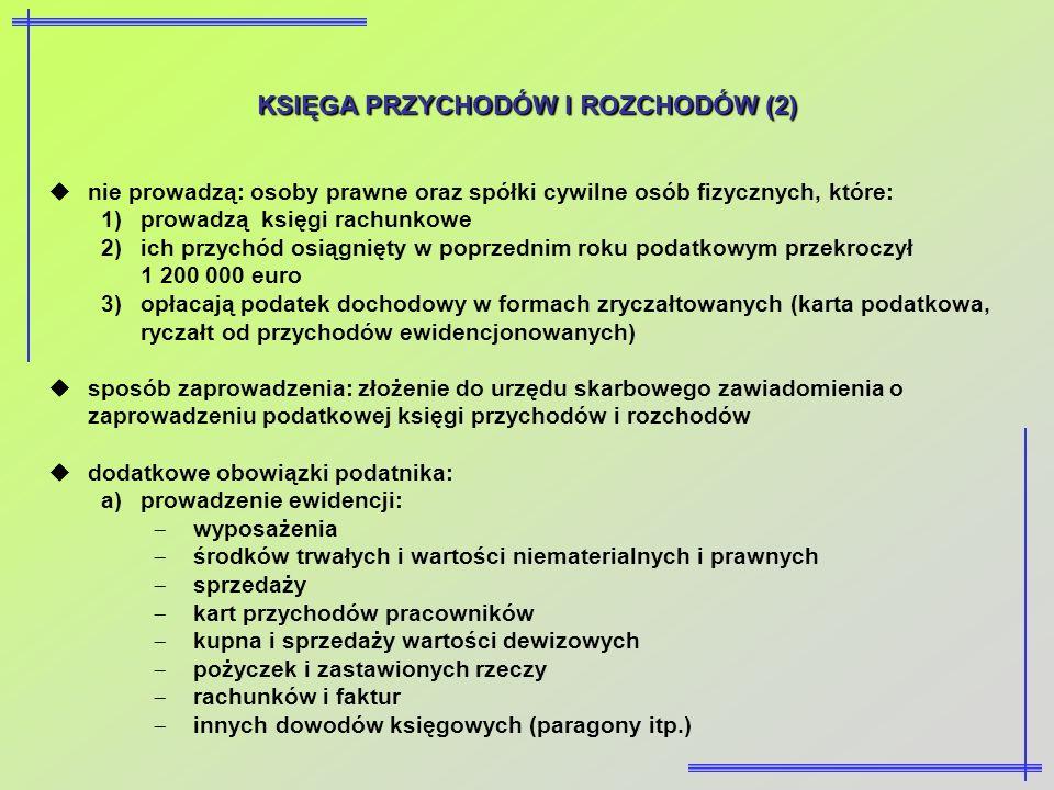 KSIĘGA PRZYCHODÓW I ROZCHODÓW (2)