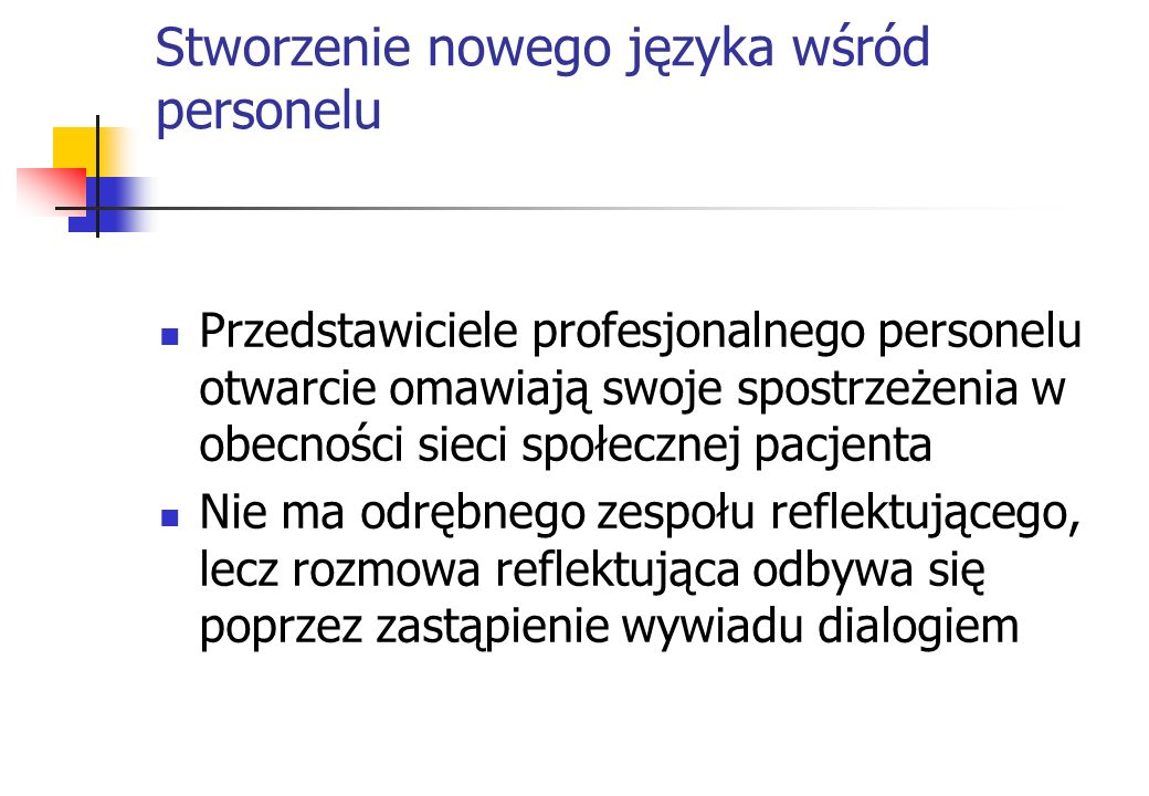 Stworzenie nowego języka wśród personelu