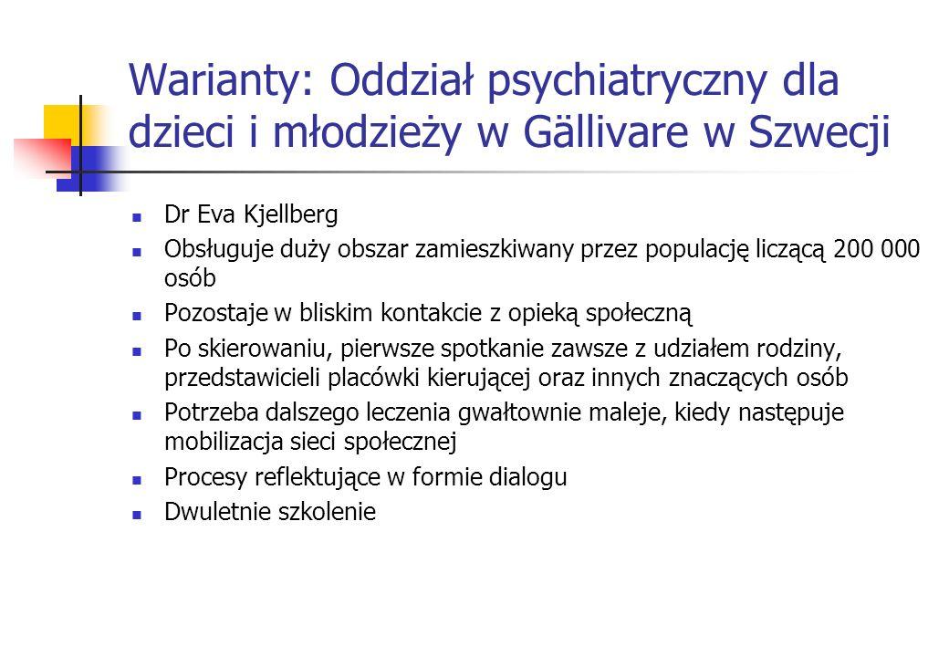Warianty: Oddział psychiatryczny dla dzieci i młodzieży w Gällivare w Szwecji