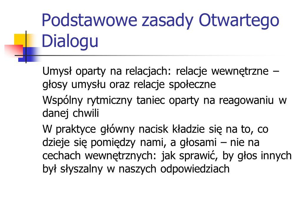 Podstawowe zasady Otwartego Dialogu
