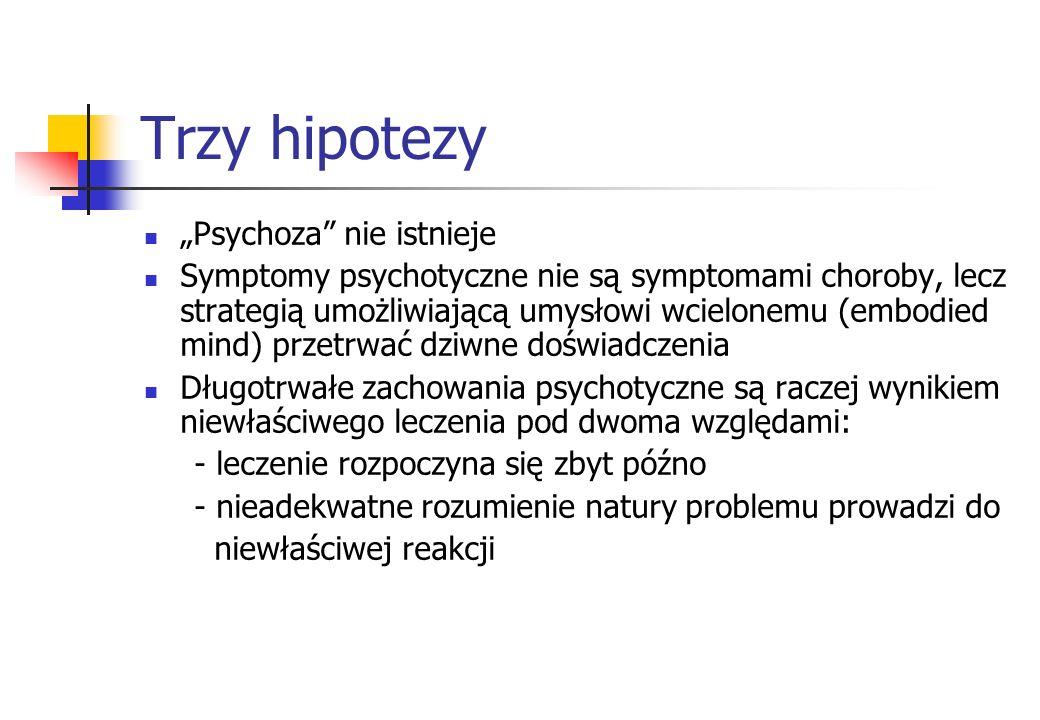 """Trzy hipotezy """"Psychoza nie istnieje"""