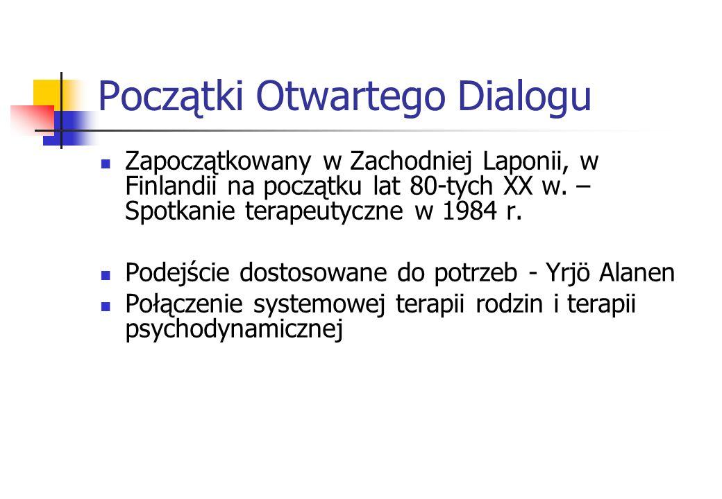 Początki Otwartego Dialogu