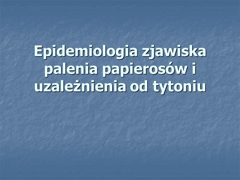 Epidemiologia zjawiska palenia papierosów i uzależnienia od tytoniu